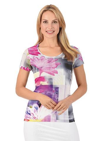 Marškinėliai Pinke gėlės