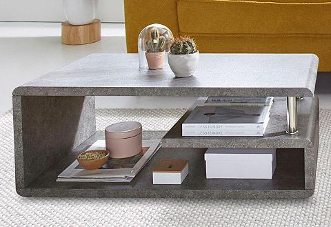 Kavos staliukas su lentynos