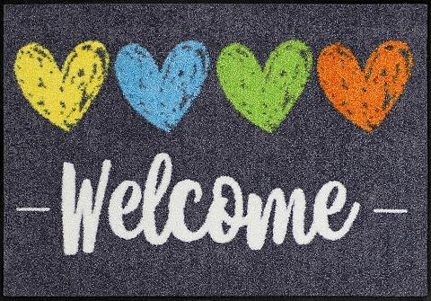 Durų kilimėlis »Heart Welcome« rechtec...
