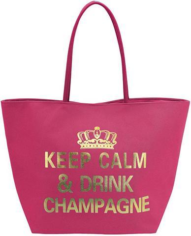 Rankinė »Keep Calm pink/gold«