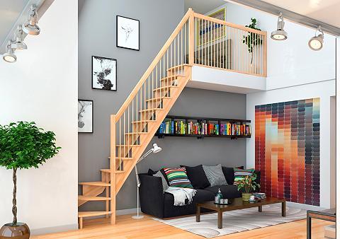 Kompaktiški laiptai »Lyon« buche 1/4 i...