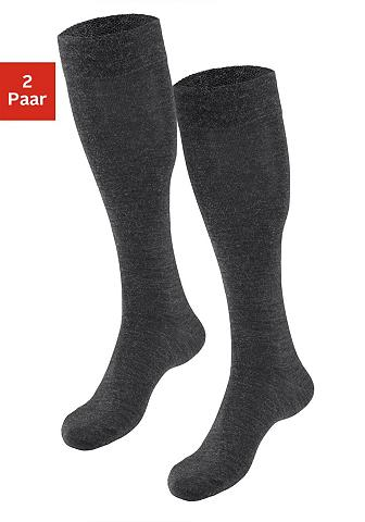 SYMPATICO Vilnonės kojinės (2 poros) su švelnus ...