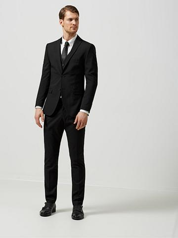 Slim-Fit-Anzughose im Crashed-Look