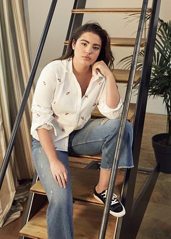 Wide-Leg-Jeans in Cropped-Länge