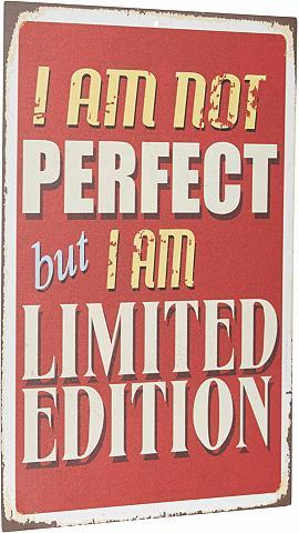 HOME AFFAIRE Metallschild »I ant not perfect ?«