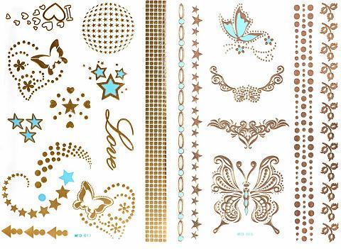 Tatuiruotė »3D Flash Tattoos« Gold-Tat...