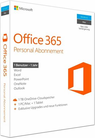 MICROSOFT Office 365 Personal Mac/Windows (CD-RO...