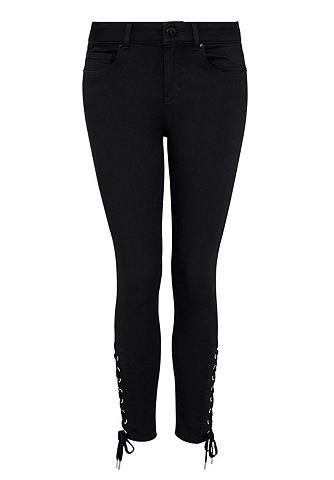 7/8-Skinny-Jeans su Schnürungen