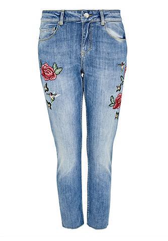 Cropped Laisvo stiliaus džinsai su siu...