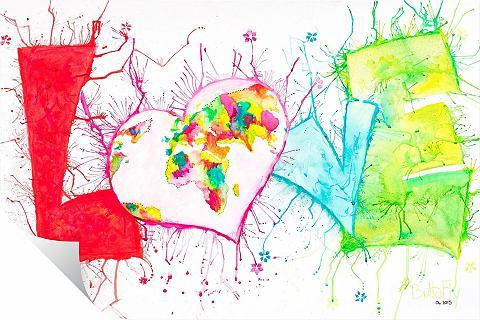 Wallprint »Buttafly - Love« 80/50 cm