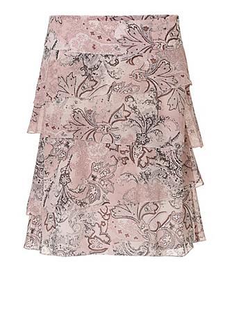 Sluoksniuotas sijonas su raštas