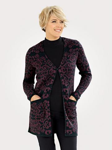 MONA Megztinis su gėlėtas dizainas