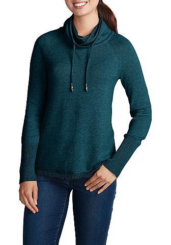 Megztinis su platus apykaklė aukštu ka...