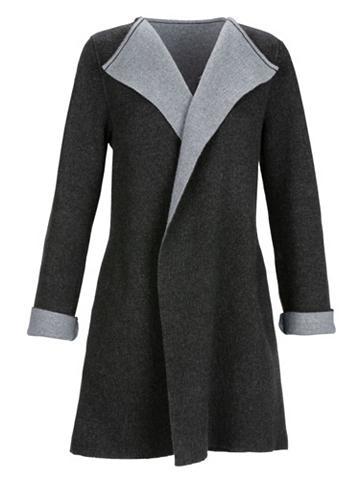 MONA Megztas paltas in Double-Face-Optik