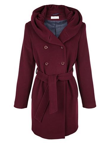 Vilnonis trumpas paltas su diržas