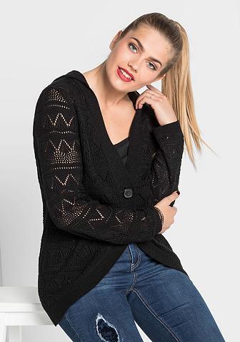 SHEEGO CASUAL Megztinis su gobtuvu
