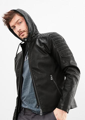 Fake Leather-Jacke su Wattierung