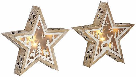 LED Žvaigždė su Timer 2vnt. rinkinys »...