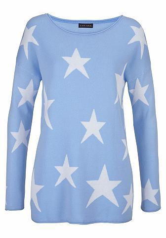LASCANA Megztinis su eingestrickten Sternen