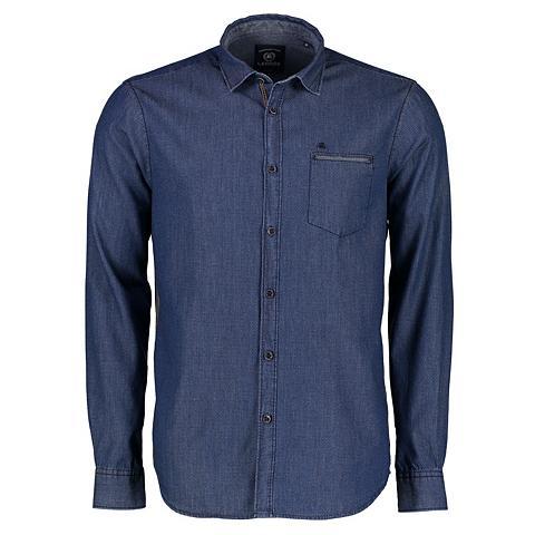 Marškiniai in Indigo-Dobby-Struktur
