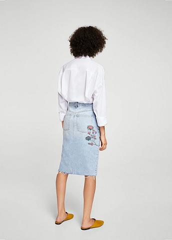 Išsiuvinėtas Džinsinis sijonas
