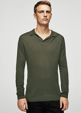 Feinstrick-Poloshirt