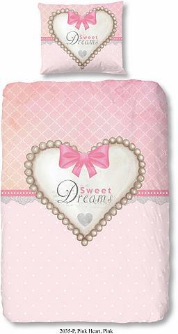 GOOD MORNING Vaikiška patalynė »Pink Heart« su Herz...