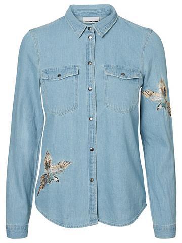 Detailreiches džinsiniai marškinėliai