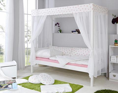 TICAA Viengulė lova su baldakimu »Lino« in d...
