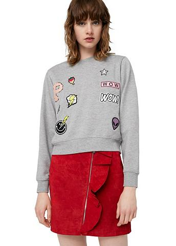 Sportinio stiliaus megztinis su Aufnäh...