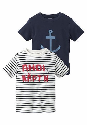 KIDSWORLD Marškinėliai »AHOI KÄPT'N« (Rinkinys 2...