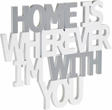 HOME AFFAIRE Sienos dekoracija Spruch »Home is wher...