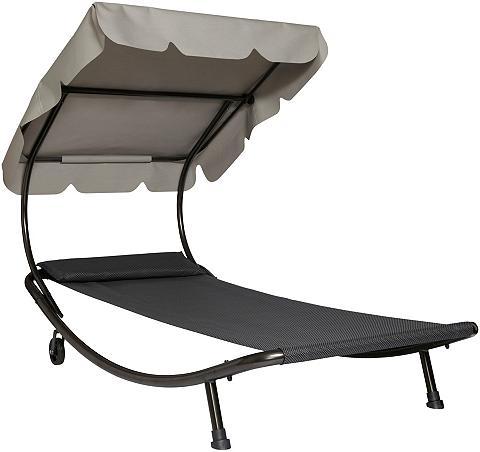 LECO Sodo gultas Stahl/Textil beige/anthraz...