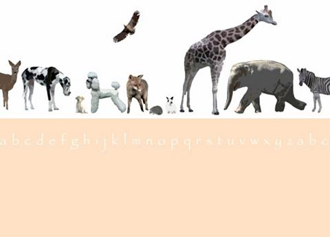 RASCH Fototapetas »Tiermotive« mehrfarbig (1...
