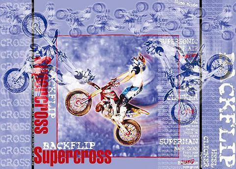 RASCH Fototapetas »Supercross« mehrfarbig (1...