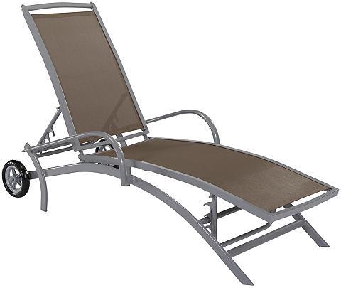 Sodo gultas »Amalfi« Alu/Textil taupe