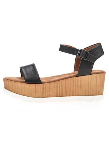 Holz-Keilabsatz- sandalai