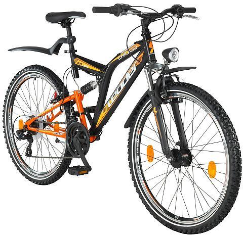 LEADER Universalus dviratis 21 Gänge orange-s...