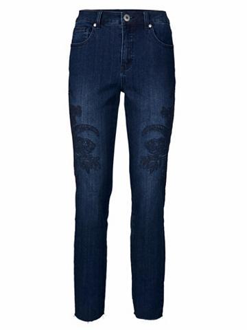 Siauri džinsai su apvadas