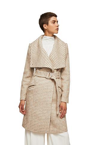 Vilnonis paltas su platus Revers