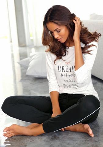 VIVANCE DREAMS Pižama su 3/4-Ärmeln ir Schrift raštas...