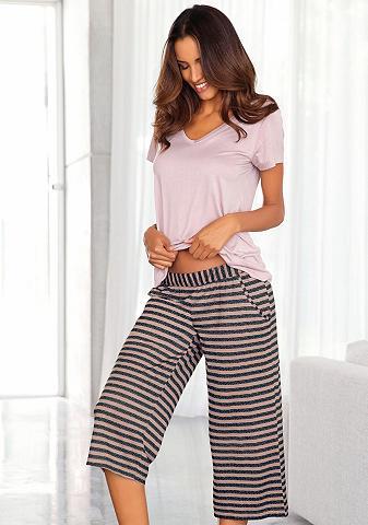 Pižaminės kelnės su Dryžuotas kiulotai...