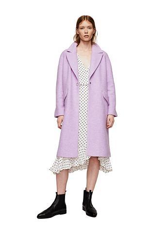 Vilnonis paltas su Revers