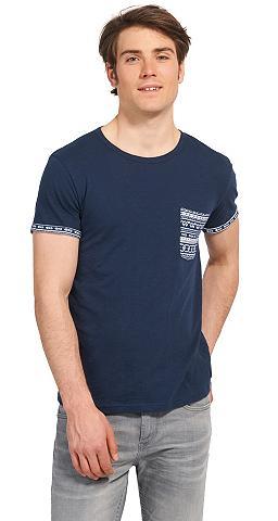 Marškinėliai »mit gemusterter Brusttas...