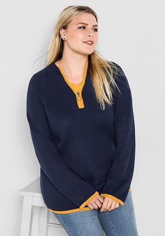 SHEEGO CASUAL Megztinis stačia apykakle