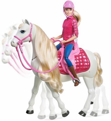 MATTEL Lėlė su interaktivem Pferd »Barbie Tra...