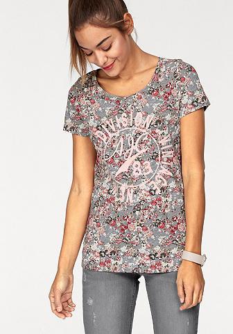 Marškinėliai »mit gėlės ir Frontpirnt«...