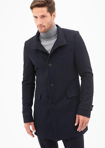 Vilnonis paltas su Leder-Details
