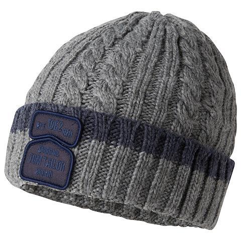 Megzta kepurė »Mütze su Zopfmuster«