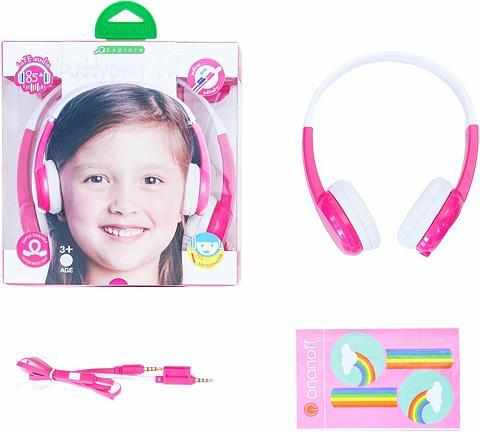 BUDDYPHONES? ? Vaikiškos ausinės »Explore pink«